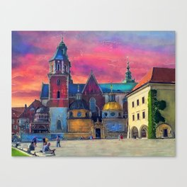 Cracow Wawel art Canvas Print