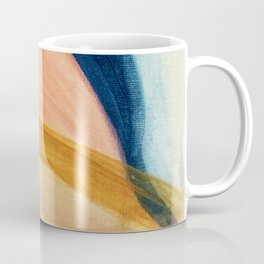Slow as the Mississippi - Acrylic abstract with pink, blue, and brown Coffee Mug