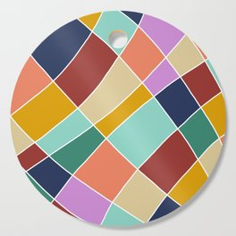 Abstract Retro Painting Cutting Board