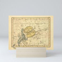 Vintage Scorpio Constellation Map (1822) Mini Art Print