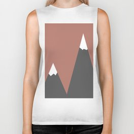 Pink Mountains Biker Tank