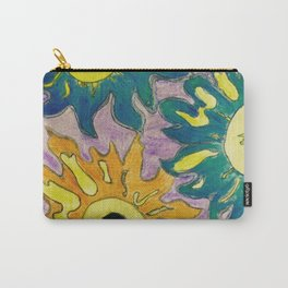 Green and orange Sunflowers. Carry-All Pouch