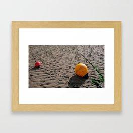 BEACH BUOYS Framed Art Print