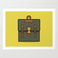 backpack Art Prints featuring mb Backpack by ///enace