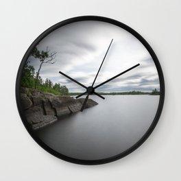 Boundary Waters Gabbro Lake Wall Clock