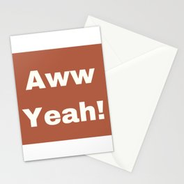 Aww Yeah Stationery Cards
