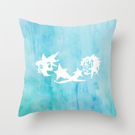 Kingdom Hearts Watercolor Throw Pillow