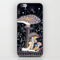 mushrooms iPhone & iPod Skins featuring Mushrooms by Asja Boros