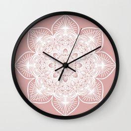 Pink Pastel Mandala Wall Clock