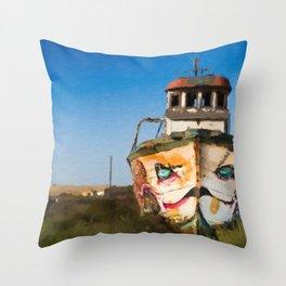 An Wooden old Ship 1 Throw Pillow