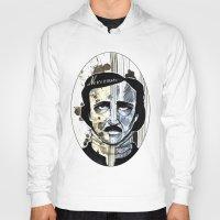 edgar allan poe Hoodies featuring Edgar Allan Poe by qtrnevermore