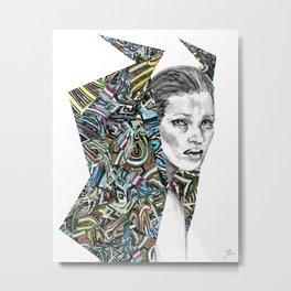 Origami Girl Three Metal Print