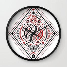 83 Drops - Diamonds (Red & Black) Wall Clock