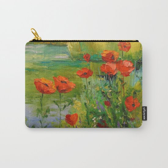 Poppies by the pond Carry-All Pouch