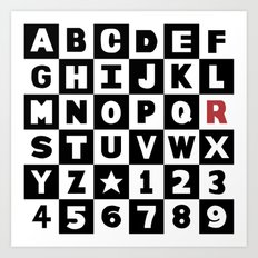 Alphabet With Red