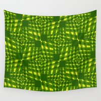 palm tree Wall Tapestries featuring Palm  by dominiquelandau