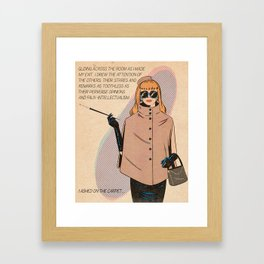 Gliding across the room as I made my exit... Framed Art Print