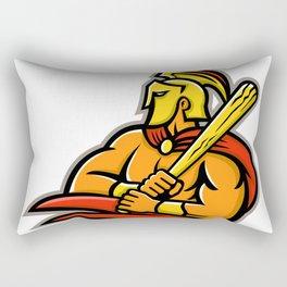 Trojan Warrior Baseball Player Mascot Rectangular Pillow