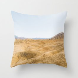 Death Valley Desert Hills of the Mojave Throw Pillow
