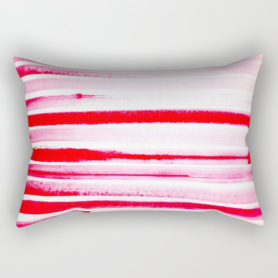 Christmas Candy Cane Red Stripe Rectangular Pillow