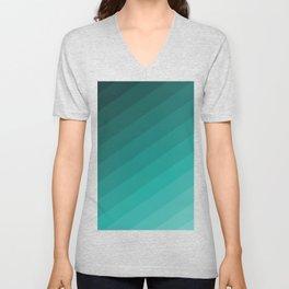 shades of green blue pattern Unisex V-Neck