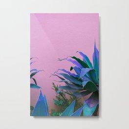 Pink Algarve Wave Metal Print