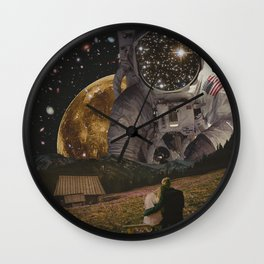 HELLO ASTRONAUT Wall Clock