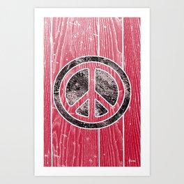 Peace Symbol-Dissd Art Print
