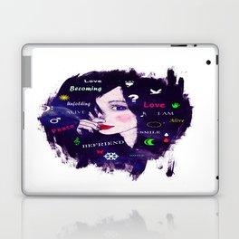 Thinking woman  Laptop & iPad Skin