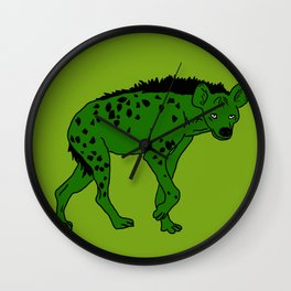 The aberrant hyena Wall Clock