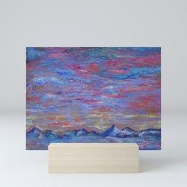 Longs Peak Colorado Winter Horizon with Waterfowl Mini Art Print