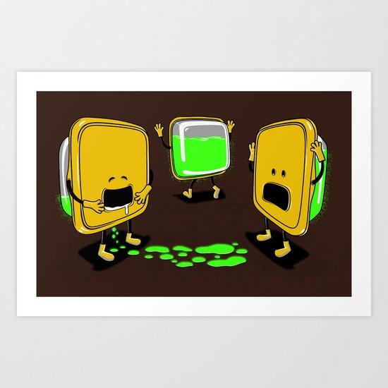 Radioactive Tupper Art Print