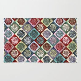 Colored Wood Pattern 3 Rug