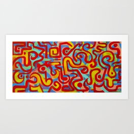 rojo caliente con aguacate Art Print