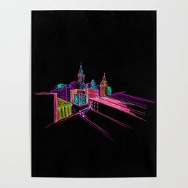 vibrant city art 4 Poster