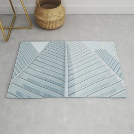 LOW-ANGLE OF HIGH-RISE BUILDING Rug