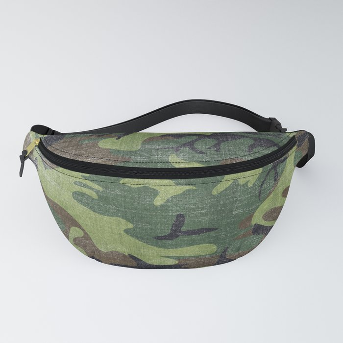 Aged Camo Look Fanny Pack