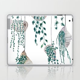 hanging plant in seashell Laptop & iPad Skin