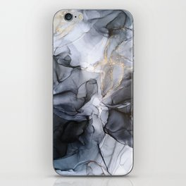 Calm but Dramatic Light Monochromatic Black & Grey Abstract iPhone Skin