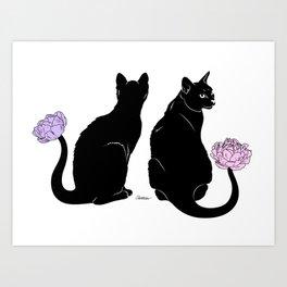 Flower Cats Art Print