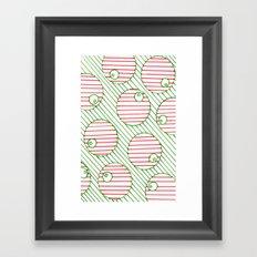 snooker balls in red Framed Art Print