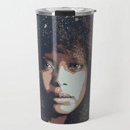 Musician Queen Erykah Badu stencil art unique painting Travel Mug