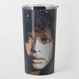 Musician Queen Erykah Badu stencil art unique painting Travel Mug