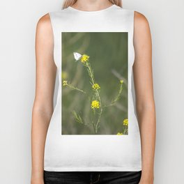 Cabbage White Butterfly Biker Tank