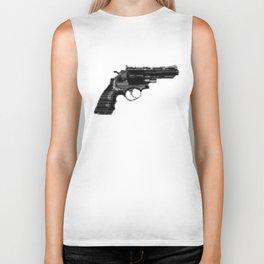 8bit glitch 357 Magnum Revolver Biker Tank