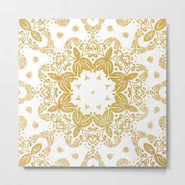 Golden mandala Metal Print