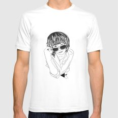 Drawing Mens Fitted Tee MEDIUM White