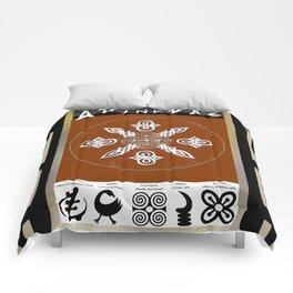 Adinkra Symbol Tote Bag Comforters