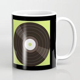 Retro Color Block Vinyl Records Coffee Mug