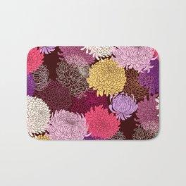 Autumn garden of chrysanthemums Bath Mat